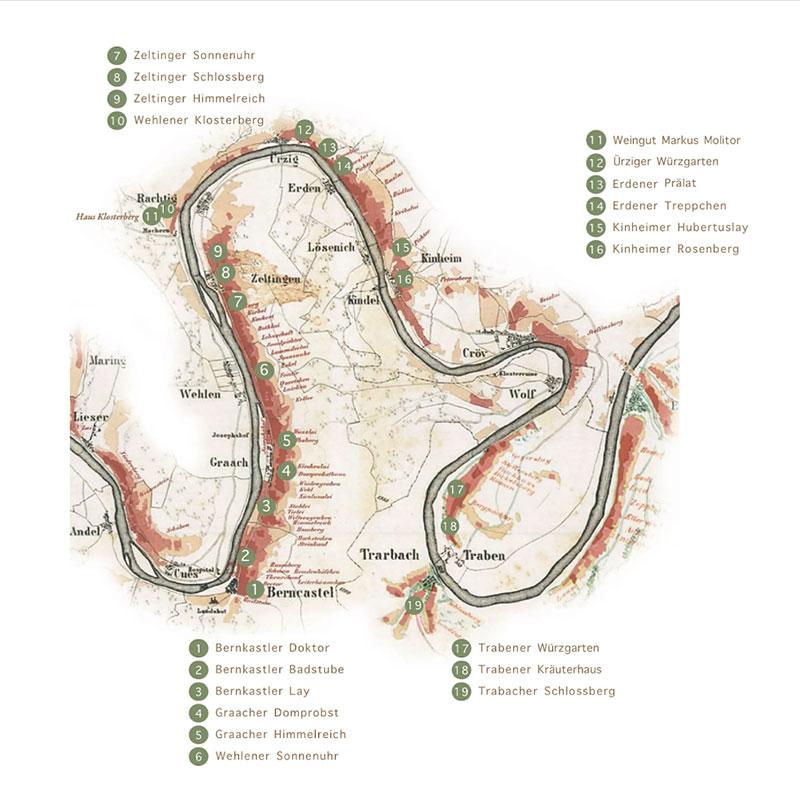 Bild Weingut Markus Monitor - Karte Lagen