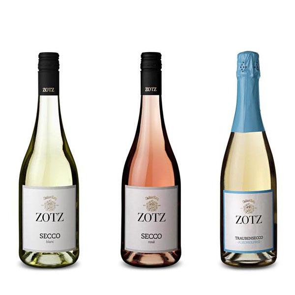 Weingut Zotz Secco - rose -blanc - alkoholfrei